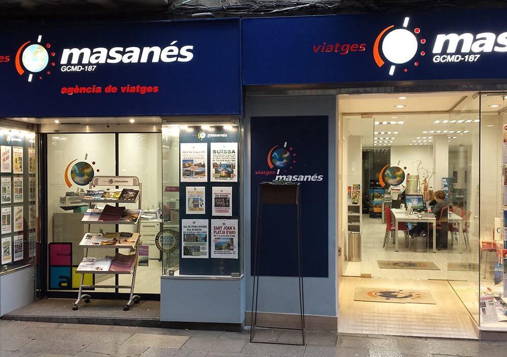 Reforma oficina Viatges Masanés Manresa - Obrallar